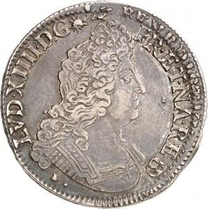 Louis XIV (1643-1715). Écu de Béarn aux insignes, réformation 1701, Pau.
