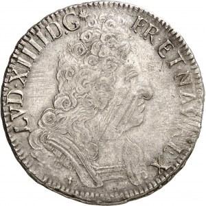 Louis XIV (1643-1715). Écu aux huit L, 2e type, portrait hybride 1709, L, Bayonne.