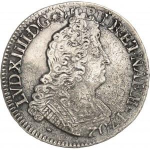 Louis XIV (1643-1715). Écu de Béarn aux huit L, réformation 1704, Pau.