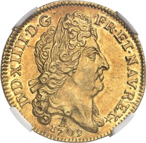 Louis XIV (1643-1715). Louis d'or au soleil 1709, A, Paris.
