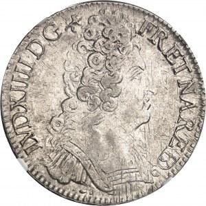 Louis XIV (1643-1715). Écu de Béarn aux trois couronnes 1710, Pau.