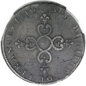 """Louis XIV (1643-1715). Piéfort de poids quadruple de la pièce de six deniers dite """"Dardenne"""" 1710, &, Aix-en-Provence."""