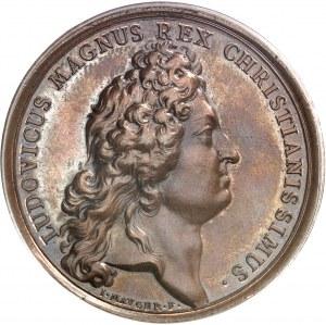 Louis XIV (1643-1715). Médaille, défaite des corsaires de Tripoli sur l'île de Chios par Mauger 1681, Paris.