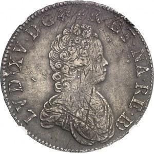 Louis XV (1715-1774). Écu dit Vertugadin de Béarn, flan neuf 1716, Pau.