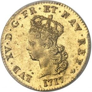 """Louis XV (1715-1774). Demi-louis d'or dit """"de Noailles"""" 1717, 2e semestre, A, Paris."""