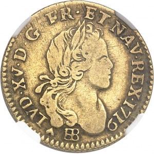 Louis XV (1715-1774). Demi-louis d'or à la croix de chevalier 1719, BB, Strasbourg.