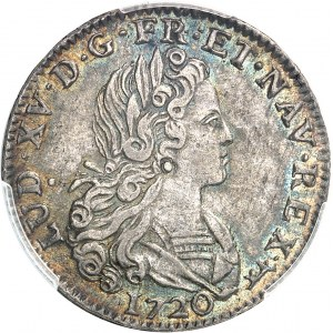 Louis XV (1715-1774). Petit louis d'argent 1720, A, Paris.