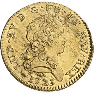 Louis XV (1715-1774). Double louis d'or dit mirliton 1723, A, Paris.