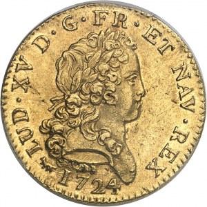 Louis XV (1715-1774). Double louis d'or dit mirliton 1724, A, Paris.