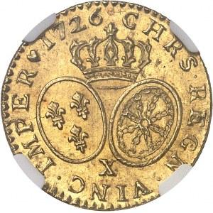 Louis XV (1715-1774). Louis d'or aux lunettes 1726, X, Amiens.