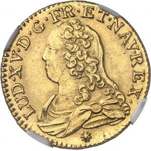 Louis XV (1715-1774). Louis d'or aux lunettes 1732, D, Lyon.