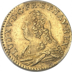 Louis XV (1715-1774). Louis d'or aux lunettes 1734, B, Rouen.