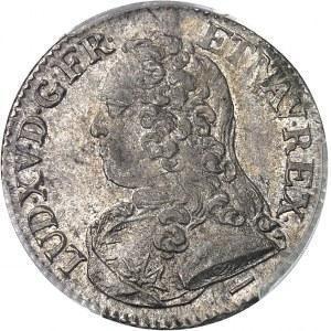 Louis XV (1715-1774). Cinquième d'écu aux rameaux d'olivier 1728/7, W, Lille.