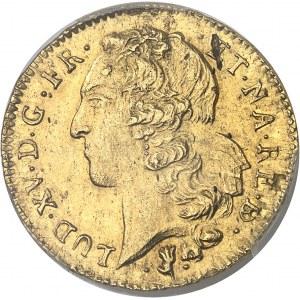 Louis XV (1715-1774). Double louis d'or au bandeau de Béarn 1752, Pau.