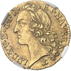 Louis XV (1715-1774). Louis d'or au bandeau 1743, &, Aix-en-Provence.