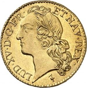 Louis XV (1715-1774). Louis d'or au bandeau 1744, W, Lille.