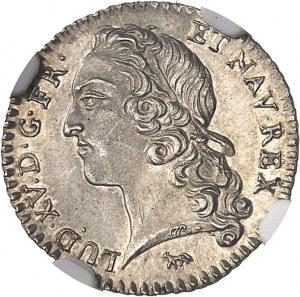 Louis XV (1715-1774). Vingtième d'écu au bandeau 1740, 2e semestre, A, Paris.