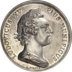 Louis XV (1715-1774). Médaille, construction de la place Saint-Sulpice à Paris 1754, Paris.