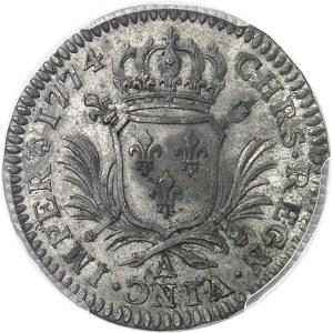 Louis XVI (1774-1792). Essai uniface du revers du Louis d'or aux palmes 1774, A, Paris.