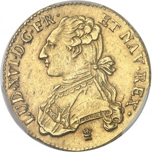 Louis XVI (1774-1792). Double louis d'or aux lunettes 1777, I, Limoges.