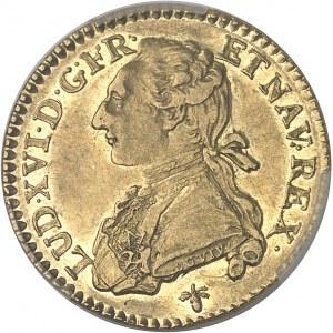 Louis XVI (1774-1792). Louis d'or aux lunettes 1775, H, La Rochelle.
