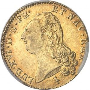 Louis XVI (1774-1792). Double louis d'or à la tête nue 1786, 1er semestre, A, Paris.