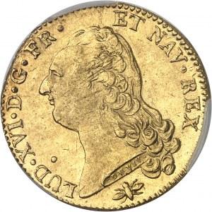 Louis XVI (1774-1792). Double louis d'or à la tête nue 1786, 2e semestre, D, Lyon.