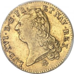 Louis XVI (1774-1792). Double louis d'or à la tête nue 1786, 1er semestre, H, La Rochelle.