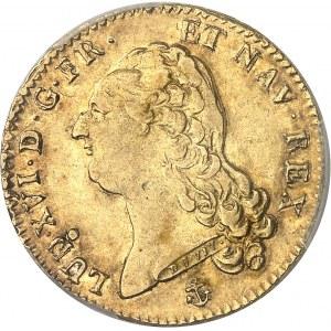 Louis XVI (1774-1792). Double louis d'or à la tête nue 1786, 2e semestre, H, La Rochelle.