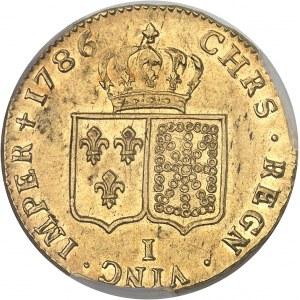 Louis XVI (1774-1792). Double louis d'or à la tête nue 1786, 1er semestre, I, Limoges.