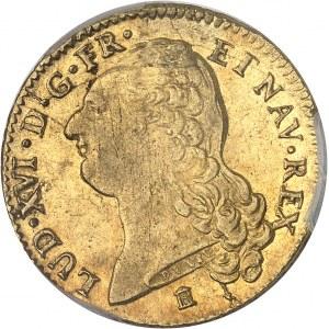 Louis XVI (1774-1792). Double louis d'or à la tête nue 1786, 1er semestre, K, Bordeaux.