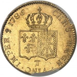 Louis XVI (1774-1792). Double louis d'or à la tête nue 1786, 1er semestre, T, Nantes.