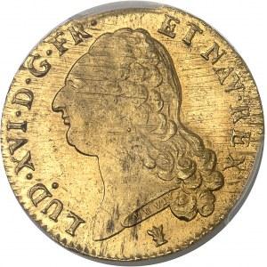 Louis XVI (1774-1792). Double louis d'or à la tête nue 1787, 2e semestre, I, Limoges.