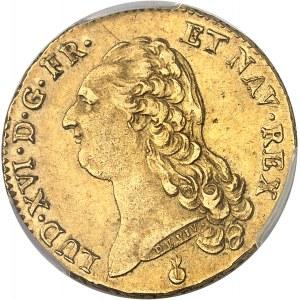 Louis XVI (1774-1792). Double louis d'or à la tête nue 1788, 1er semestre, AA, Metz.