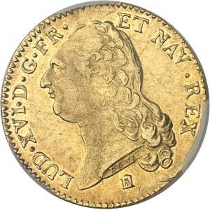 Louis XVI (1774-1792). Double louis d'or à la tête nue 1788, 1er semestre, K, Bordeaux.