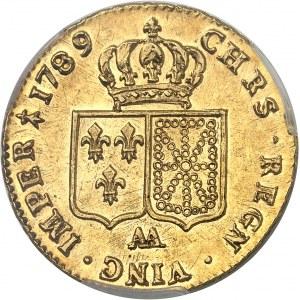 Louis XVI (1774-1792). Double louis d'or à la tête nue 1789, 1er semestre, AA, Metz.
