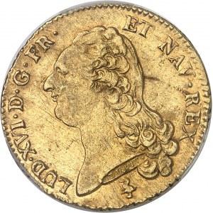 Louis XVI (1774-1792). Double louis d'or à la tête nue 1790/86, 1er semestre, A, Paris.