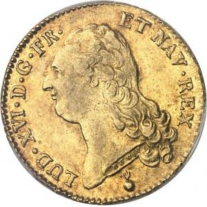 Louis XVI (1774-1792). Double louis d'or à la tête nue 1790, 1er semestre, AA, Metz.