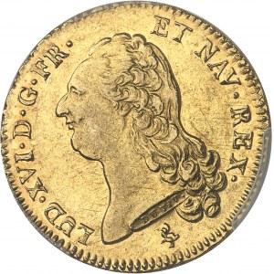 Louis XVI (1774-1792). Double louis d'or à la tête nue 1791, 1er semestre, A, Paris.