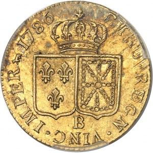 Louis XVI (1774-1792). Louis d'or à la tête nue 1786, 2e semestre, B, Rouen.