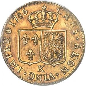 Louis XVI (1774-1792). Louis d'or à la tête nue 1786, 1er semestre, K, Bordeaux.