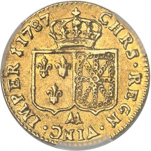 Louis XVI (1774-1792). Louis d'or à la tête nue 1787, 1er semestre, AA, Metz.