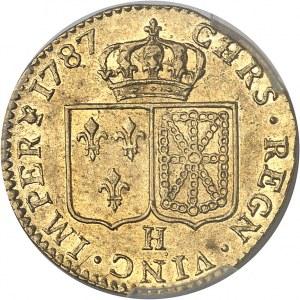 Louis XVI (1774-1792). Louis d'or à la tête nue 1787, 1er semestre, H, La Rochelle.