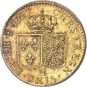 Louis XVI (1774-1792). Louis d'or à la tête nue 1787, 2e semestre, H, La Rochelle.