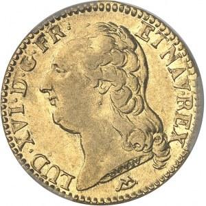 Louis XVI (1774-1792). Louis d'or à la tête nue 1787, 2e semestre, N, Montpellier.