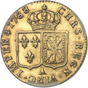 Louis XVI (1774-1792). Louis d'or à la tête nue 1788, 1er semestre, A, Paris.