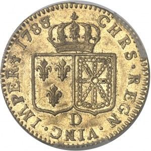 Louis XVI (1774-1792). Louis d'or à la tête nue 1788/7, 1er semestre, D, Lyon.