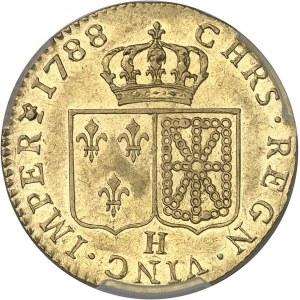 Louis XVI (1774-1792). Louis d'or à la tête nue 1788, 1er semestre, H, La Rochelle.