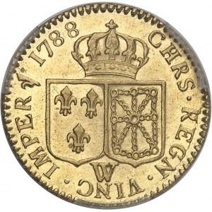 Louis XVI (1774-1792). Louis d'or à la tête nue 1788, 2e semestre, W, Lille.