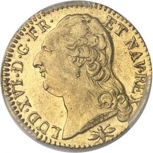 Louis XVI (1774-1792). Louis d'or à la tête nue 1789/7, 1er semestre, D, Lyon.